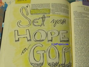 set hope on God
